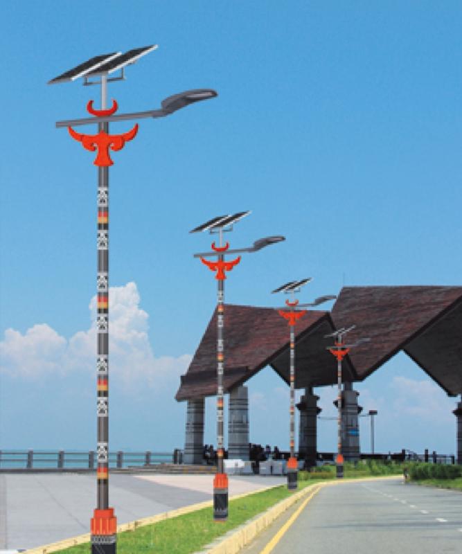民族特色太阳能路灯